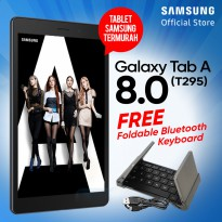 TERMURAH..!! Samsung Galaxy Tab A 8.0 2019 T295 2/32GB Free Foldable Bluetooth Keyboard