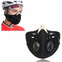 Masker Motor Anti Polusi Filter Udara Bersih Debu Touring Mask 0.3 SOS Air Filter Anti Dust