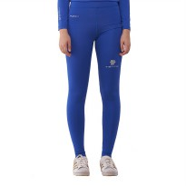 Tiento Baselayer Compression Celana Olahraga Tight Legging Long Pants Blue White Original