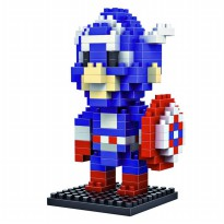 LDL 116 Lego Action Figure Nano Blocks World Series Captain America
