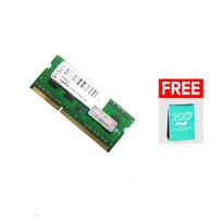 V-GEN SO-DIMM Unbuffered 204pin (Low Voltage DDR3 - 4GB PC-10600/1333 Mhz + Free Kalender 2017