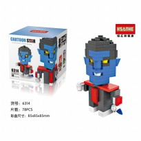 Hsanhe 6314 Action Figure Lego Cube Micro World Series Nightcrawler