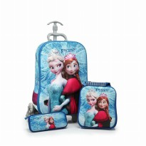 [FROZEN] Character Trolley Bag 3 in 1 | Three Wheel