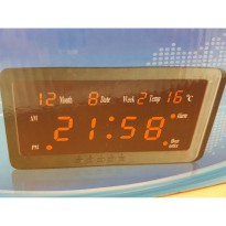[Platinum] Digital LED Clock XY-2158 ( Bulan+Hari+Minggu+Temperature ) LED Merah