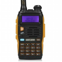 Radio Ht Handy Talky Baofeng GT-3Mark Lll 8 Wat Dual Band Waterfroop + Headset