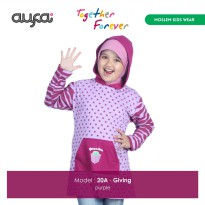 baju anak muslim AUFA AF-Giving Purple 20A