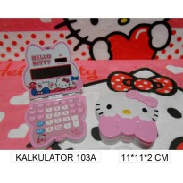 kalkulator kepala hello kitty pink 103a