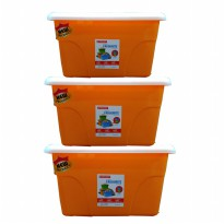 [Maspion] CONTAINER 3 PCS - Favourite containet set 3pc - orange
