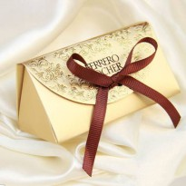 [globalbuy] 50pcs New Fashion Wedding Gift For Guests Baby Shower Paper Candy Box Ferrero /4625621