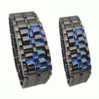 LED WATCH BLACK WITH BLUE LIGHT