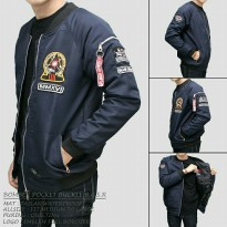Jaket bomber BGSR pocket navy