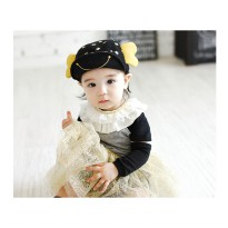 Smiley Yellow Infant Korean Cap - Topi