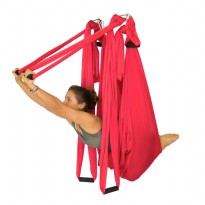 Body Gym Yoga Swing / Hammock + Mount Merah