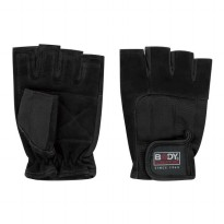 Body Sculpyure Sarung Tangan Kulit/Spandek Leather Fitness Gloves, XL