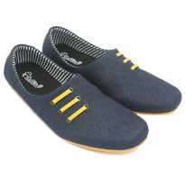 Dr. Kevin Men Slip-On Shoes 13324 - Navy/Yellow