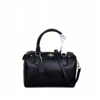 Authentic Coach Bennet Satchel In Crossgrain Leather - Black