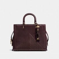 Authentic COACH Rogue 31 With Quilting and Rivets - Burgundy