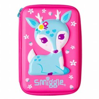 Smiggle Tempat Pensil Deer Hardtop Pencil Case - Pink
