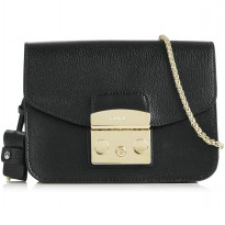 AUTHENTIC FURLA METROPOLIS MINI CROSSBODY WITH CHAIN STRAP