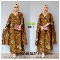 Baju pesta cape sogan