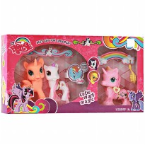 My Little Pony - Mainan Kuda Pony Anak - 3Pcs