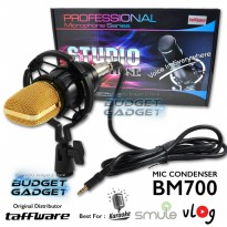 Professional Condenser Studio Microphone With Shock Proof Mount - BM700 - Black Print Friendly Versi