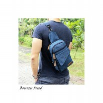 TAS KANVAS SLEMPANG - SLING BAG BOURZU FREED 2 IN 1 Genuine Leather