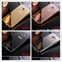 Aluminium Metal Bumper Slide Back Case with Mirror Cover Untuk Samsung A3 2016 New Baru