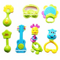 Baby Rattle Playset 1838A-3 7 pcs - Mainan Rattle Baby Full Colour