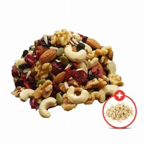 [1+1] Trail Mix ( Mixed Nuts ) 300 Gr - FREE!!! Natural Rolled Oats 500 Gr