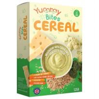 Yummy Bites Cereal Multigrain Cauliflower,Broccoli & Cheese - 125 Gr