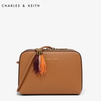 2260 Charles & Keith Small duo-zip sling bag
