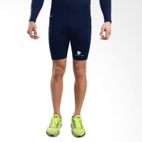 Tiento Baselayer Compression Celana Olahraga Tight Legging Short Pants Navy White Original