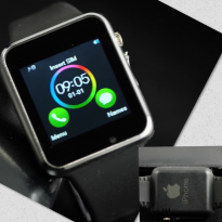 SMART WATCH SW08 BLACK SILVER