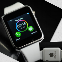 SMART WATCH IPHONE SW08 WHITE SILVER