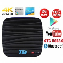 T98 Android 7.1 TV BOX Ram 2gb Rom 16gb