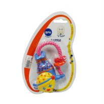 Mainan Rattle Bayi IQ Baby Naughty Clown Yellow