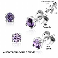 [SILVERDRAGON] 842506-019/022 Anting Silver dengan SWAROVSKI® elements 4mm