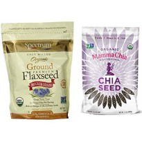 [poledit] Spectrum Finely Ground Flaxseed and Organic Chia Seed Bundle (T1)/13103152