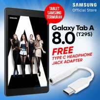 Samsung Galaxy Tab A 8.0 2019 T295 Free Samsung Jack Adapter Type C Headphone - Garansi Resmi