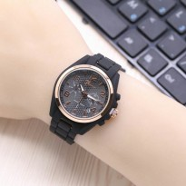 GENEVA GV021 BLACK RING ROSEGOLD