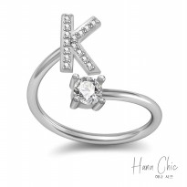 HanaChic Immortal Love Initials K Ring