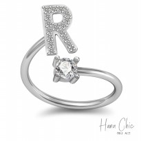 HanaChic Immortal Love Initials R Ring