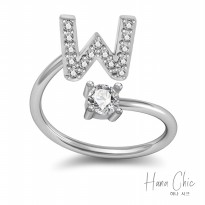 HanaChic Immortal Love Initials W Ring