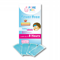 PURE KIDS FEVER FREE COOLING PATCH GEL KOMPRES PENURUN PANAS ANAK ISI 4