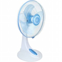 Miyako KAD-1227B Duo (Desk & Wall Fan) - Putih Biru
