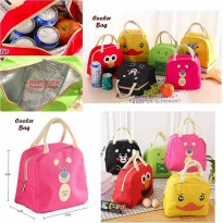 Tas Bekal Kartun Karakter Lucu Motif Mix Iconic Insulated Bag Lunch Bag Cooler