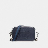 Authentic Coach Jes Convertible Belt Bag In Colorblock - Navy