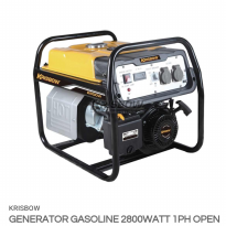 KRISBOW GENSET BENSIN 2800 W 1PH OPEN