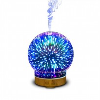 Humidifier 3D-05 Glass Circle Light Essential Oil Aroma Diffuser 100ML